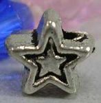 JW10815 Tibetan Silver Beads - Star Shape - Antique Silver Colour - 5.1mm (approx 25 beads)